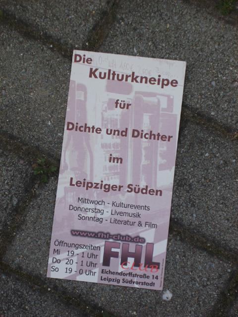 FHL-Lesebühne Flyer